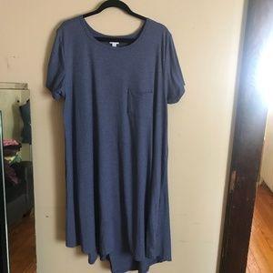 LulaRoe | XXL Steel Blue Carly Dress